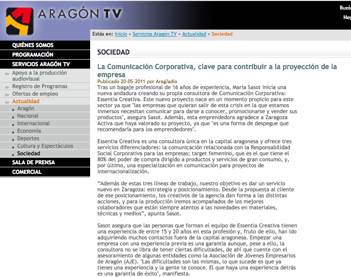 aragon TV Comunicacion Corporativa