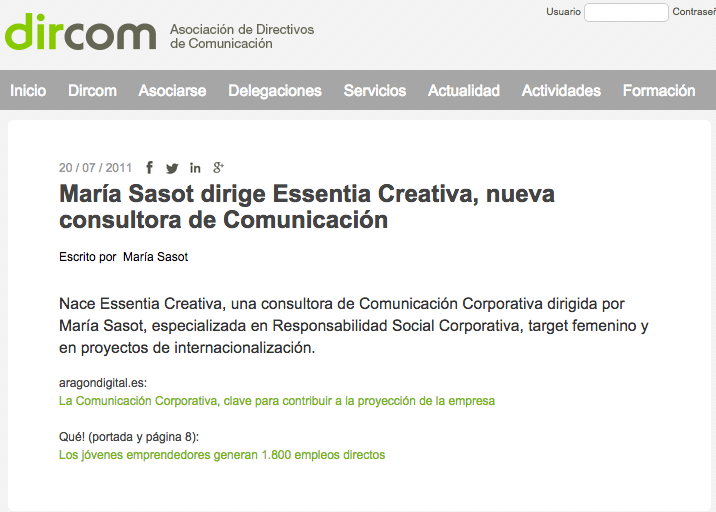 dircom, noticia