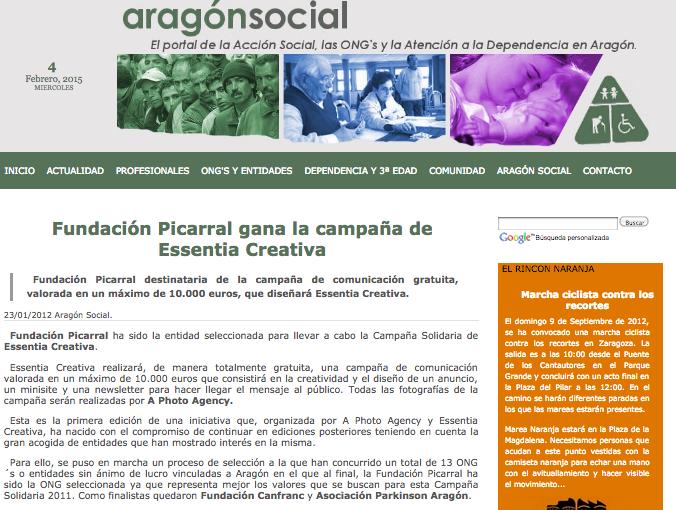 aragon social ganador