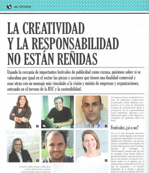 creatividad y responsabilidad