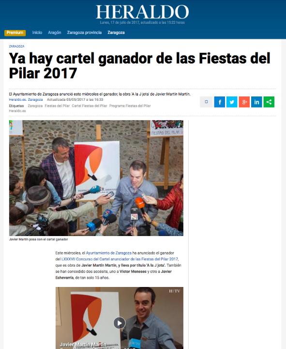 Cartel ganador Fiestas del PILAR