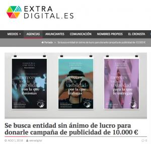 EXTRADIGITAL:  Se busca entidad sin ánimo de lucro para donarle campaña de publicidad de 10.000 €