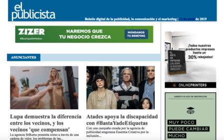 El publicista: Atades apoya la discapacidad con #BastaYadeEtiquetas