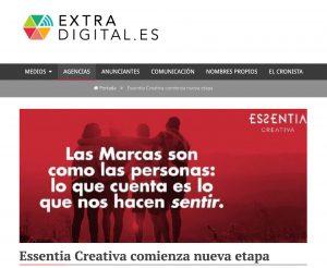 ExtraDigital: «Essentia Creativa comienza nueva etapa»