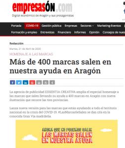 Empresason: Más de 400 marcas salen en nuestra ayuda en Aragón