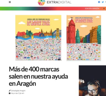 Extradigital: Más de 400 marcas salen en nuestra ayuda en Aragón